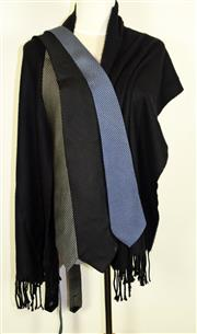 Sale 8460F - Lot 42 - Three Armani ties together with a black cashmere scarf