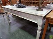 Sale 8480 - Lot 1093 - Timber Three Drawer Desk