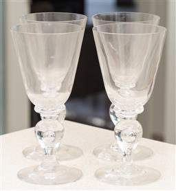Sale 9162H - Lot 26 - A set of four crystal goblets, Height 21.5cm