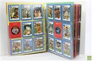 Sale 8618 - Lot 26 - Folder Of Vintage Footy Cards Incl Signed Examples