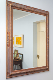Sale 8677B - Lot 809 - A gilt framed bevelled edge mirror with carving in the French taste H x 147 W x 117cm