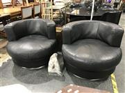 Sale 8809 - Lot 1020 - Pair of King Furniture Swivel Chairs