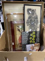 Sale 8990 - Lot 2093 - 6 Prints & Mixed Media Works incl Rubbing