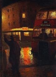 Sale 9030 - Lot 543 - Roland Wakelin (1887 - 1971) - Stopping the Bus, Wooloomooloo 1941 54 x 39.5 cm (frame: 71 x 56 x 4 cm)