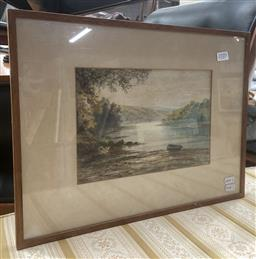 Sale 9094 - Lot 2089 - Frederick Walters Upper Regions of the Dart, watercolour, frame: 32 x 42 cm, signed lower left