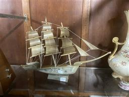 Sale 9101 - Lot 2364 - Sailing Boat, made of horn