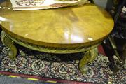 Sale 8058 - Lot 1023 - Circular American Weiman Coffee Table on Gold Cabriole Legs