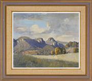 Sale 8334 - Lot 502 - Les Graham (1942 - ) - Afternoon Sky, Capertee Valley 36.5 x 44.5cm