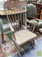 Sale 8447 - Lot 1097 - Timber Framed Rocking Chair