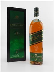 Sale 8498 - Lot 1744 - 1x Johnnie Walker 15YO Green Label Blended Scotch Whisky - early edition, 43% ABV, 700ml in box