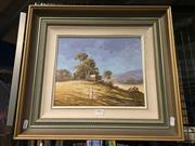 Sale 8771 - Lot 2098 - William Kennedy Mitchell - Paddys River Property 1988, oil on canvas board, frame size: 43 x 48cm signed lower right