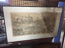Sale 9135 - Lot 2061 - Greg Hyde Progress lithograph, ed. 5/200 frame: 52 x 82 cm, signed and dated lower right,