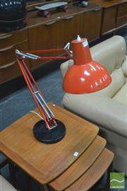 Sale 8275 - Lot 1025 - Red Centre Lever Lamp