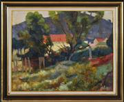 Sale 8316 - Lot 501 - Terence (John) Santry (1910 - 1990) - Figure in Country Landscape 38 x 48cm