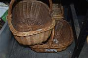 Sale 8371 - Lot 1087 - 3 Wicker baskets.