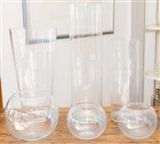 Sale 8380A - Lot 22 - A group of glass vases, H of largest 50cm