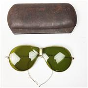 Sale 8445A - Lot 84 - World War II Aviator Glasses with Case (AF)