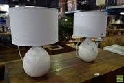 Sale 8532 - Lot 1437 - Pair of Ceramic Table Lamps with Marbled Finish