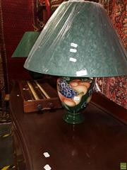 Sale 8566 - Lot 1337 - Pair of Italian Made Table Lamps with Fruit Basket Motif (3320) (60)