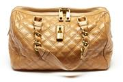 Sale 8584 - Lot 400 - A MARC JACOBS QUILTED LEATHER BAG; gilt metal hardware, internal tag no. FW10 610, 31 x 21 x 17cm.
