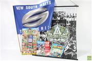 Sale 8618 - Lot 25 - Scanlens Sticker Album, Colourgram Card Chart And Two Banners