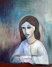 Sale 8695A - Lot 5020 - Robert Dickerson (1924 - 2015) - Young Girl 82 x 60cm