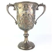 Sale 8793 - Lot 30 - Australian Electroplated Trophy for Best Fancy Poultry, Singleton Show 1873, 28cm high