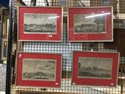 Sale 8752 - Lot 2091 - Set of (4 ) Engravings from Harrisons History of London, each 30 x 38.5cm (frame) -