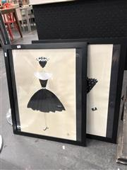 Sale 8779 - Lot 2072 - Pair of Framed Lady Pictures