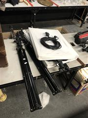 Sale 8836 - Lot 2398 - Pair of Nanguang combo C, dimeable LED photography lights, each with tripods, with 2x Jinbei MZ-2400FP