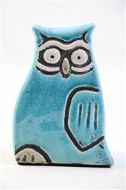 Sale 8997 - Lot 61 - Vintage MCM Crackle Glaze Figure of an Owl, H:14cm