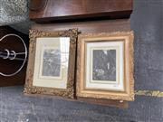 Sale 9082 - Lot 2090 - Two Lionel Lindsay facsimile etchings, frame: 39 x 32 and 34 x 29 cm , facsimile signed