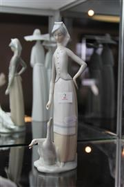 Sale 8112 - Lot 2 - Lladro Figure of a Girl with Geese