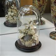 Sale 8304 - Lot 16 - Victorian Glass Dome with Faux Flowers