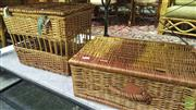 Sale 8371 - Lot 1072 - 2 bicycle baskets.