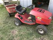 Sale 8380A - Lot 2B - A Toro Wheel Horse ride on tractor with 10 cubic foot trailer