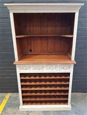 Sale 8996 - Lot 1019 - Shabby Chic Four Drawer Bar Cabinet (h:190 x w:110 x d:49cm)