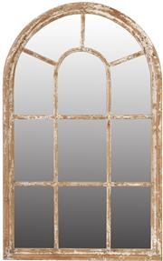 Sale 9010F - Lot 72 - A COMPOSITE FRAMED CATHEDRAL WINDOW MIRROR H:137.92W:86.36D:3.81cm