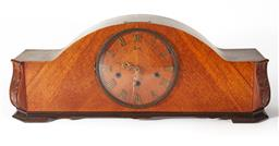 Sale 9123J - Lot 294 - A good mid 20th Century timber cased mantel clock by 'Badul' of Germany with Westminster chime in apparent working order, H:22 x W:5.