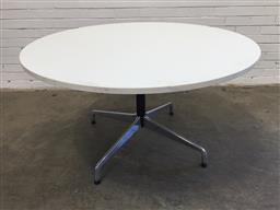Sale 9151 - Lot 1013 - Round Eames conference table (h73 x d130cm)