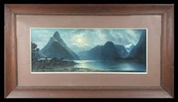 Sale 7923 - Lot 530 - J. A. Bond (2 Works) - Lake Scenes 50 x 31cm, 25 x 66cm