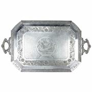 Sale 8169 - Lot 98 - Silver Plated Etched Butlers Tray by Meriden Britannia Company