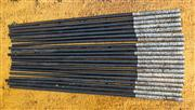 Sale 8259A - Lot 11 - A Selection of Various Silver Topped Chop Sticks, with ebonised sticks, 20 in total