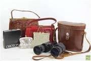 Sale 8494 - Lot 17 - Binoculars, Snakeskin And Crocodile Handbags With Other Purses Incl Oroton