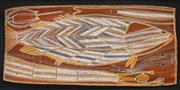 Sale 8535 - Lot 583 - Artist Unknown - Fish 46 x 107cm (framed & ready to hang)
