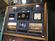 Sale 8707 - Lot 2073 - Framed Eureka 150 Years with Fine Silver $1 Coin & Uncirculated $1