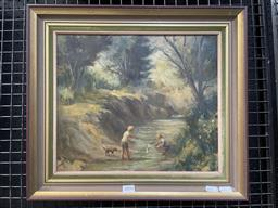 Sale 9113 - Lot 2004 - Frederick Goss Junior Yachtman oil on board, 41 x 46cm (frame) signed lowr right