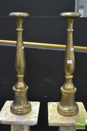 Sale 8262 - Lot 1011 - Pair of Candle Stick Holders