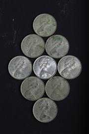 Sale 8360 - Lot 200 - 9 Silver Australian Round 1966 Fifty Cent Pieces
