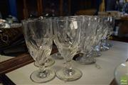 Sale 8530 - Lot 2324 - 11 Wine Glasses with Twist to Base of Bowl